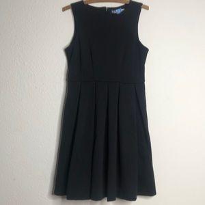 🖤🎀 A line pleated black dress